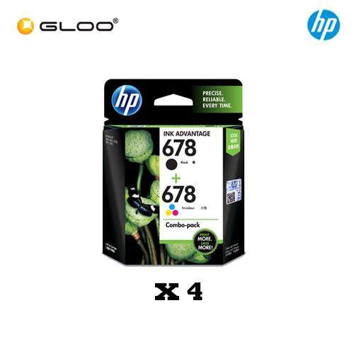 [4 Units] HP 678 Combo Pack Black/Tri-color Original Ink Advantage Cartridge L0S24AA
