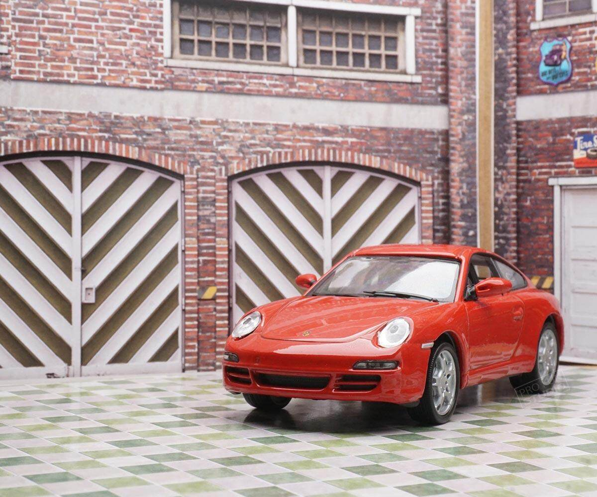 Welly Porsche 997 Cerrara S Racing 1:43 1/43 Diescat Car model Red Limited Stock in World High Simulation