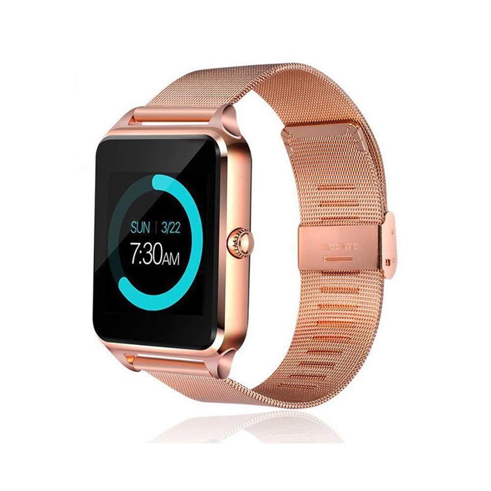 Đồng hồ thông minh Z60, Đồng hồ thông minh Bluetooth Camera Gọi SMS Nhắc nhở Màn hình chống mất ngủ Pedometer Hỗ trợ SIM TF Thẻ thép không gỉ Đồng hồ đeo tay cho iOS và Android