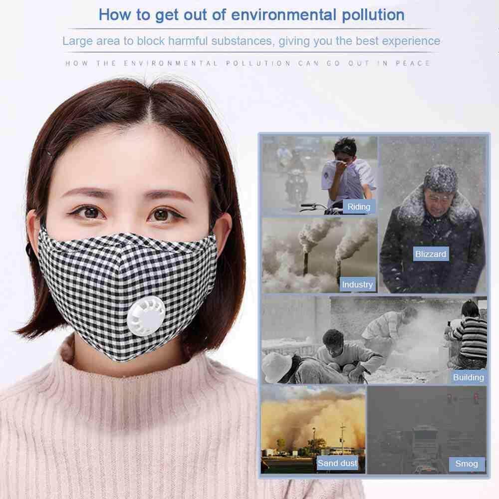 Quẹo Tai Đầu Hàng PM2.5 Có Thể Tái Sử Dụng Khẩu Trang Chống Bụi Miệng-Rọ mõm vải Đi Xe Đạp Chạy Thoáng Khí Van Chống Haze Mặt Nạ Phòng Độc Khỏe Mạnh vỏ bảo vệ