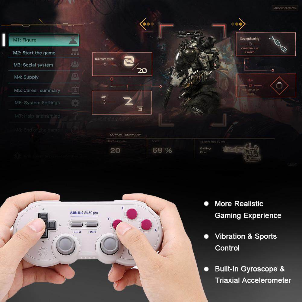 Advanced Controllers - Wireless/Wired Realistic Vibration Gamepad Bluetooth  - [GRAY / GAMEPAD-GRAY]