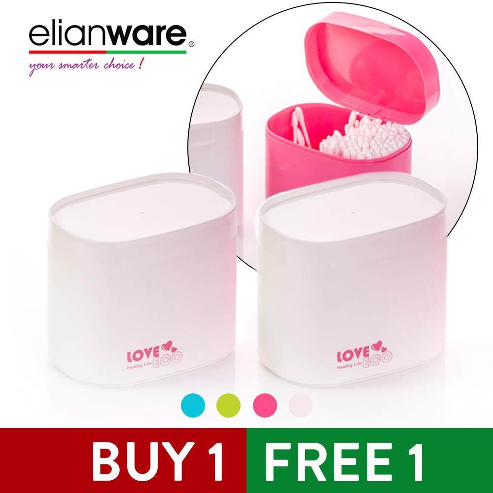Elianware 410ml Cotton Pads/ Swab Stick [BUY 1 FREE 1] Organizer Makeup Storage Case Cosmetic
