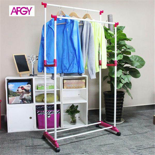 AFGY FGR 112 (PINK) Flexi Double Pole Garment Rack