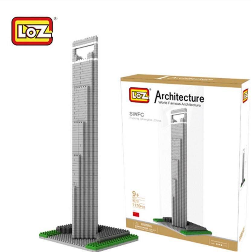 Architecture/Building Series: Shanghai World Finance Centre SWFC Loz 9372 Nano/Diamond Block