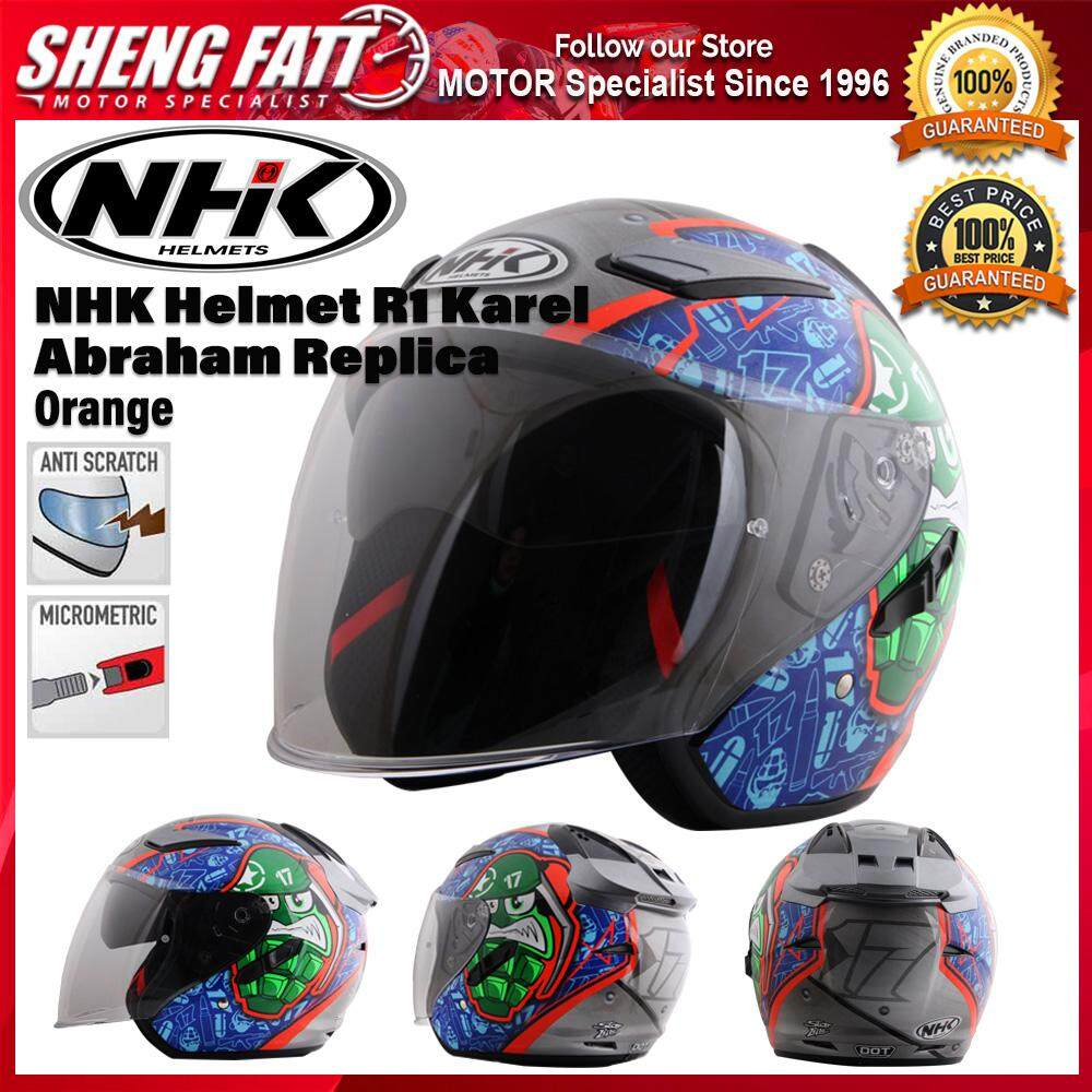 NHK Helmet R1 Karel Abraham Replica (Orange Flo) - Open Face