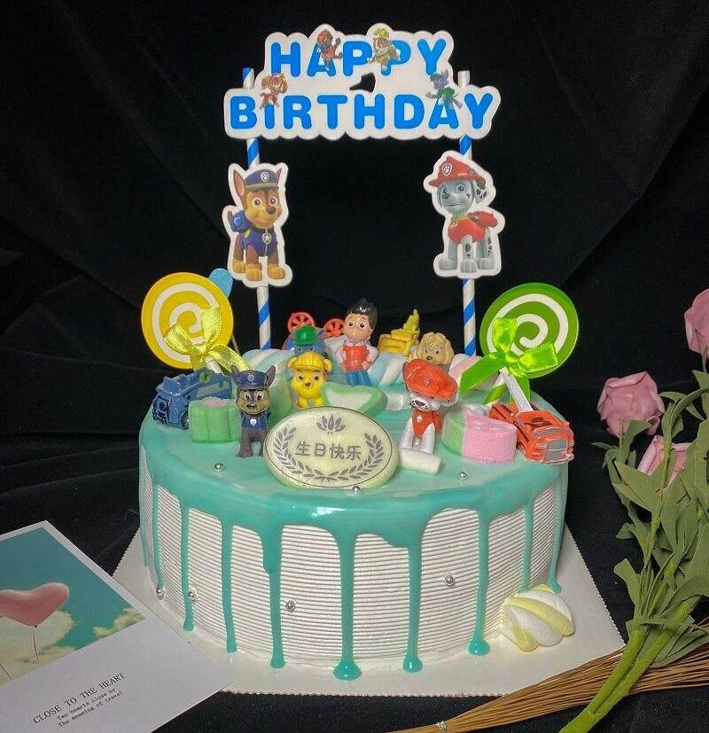 Phenomenal 12Pcs Set Cake Decor Paw Patrol Birthday Party Action Figures Personalised Birthday Cards Epsylily Jamesorg