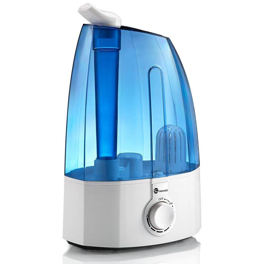 TaoTronics AH002 3.5L Humidifier with Mechanical Switch, 10hrs Working Time, 30W TT Ultrasonic Cool Mist Humidifier, 360° Rotatable Nozzles, Auto Shut-Off, Build-in Ceramic Filter, Quiet Operation for Bedroom, Home, Baby [OFFICIAL TAOTRONICS M'SIA]