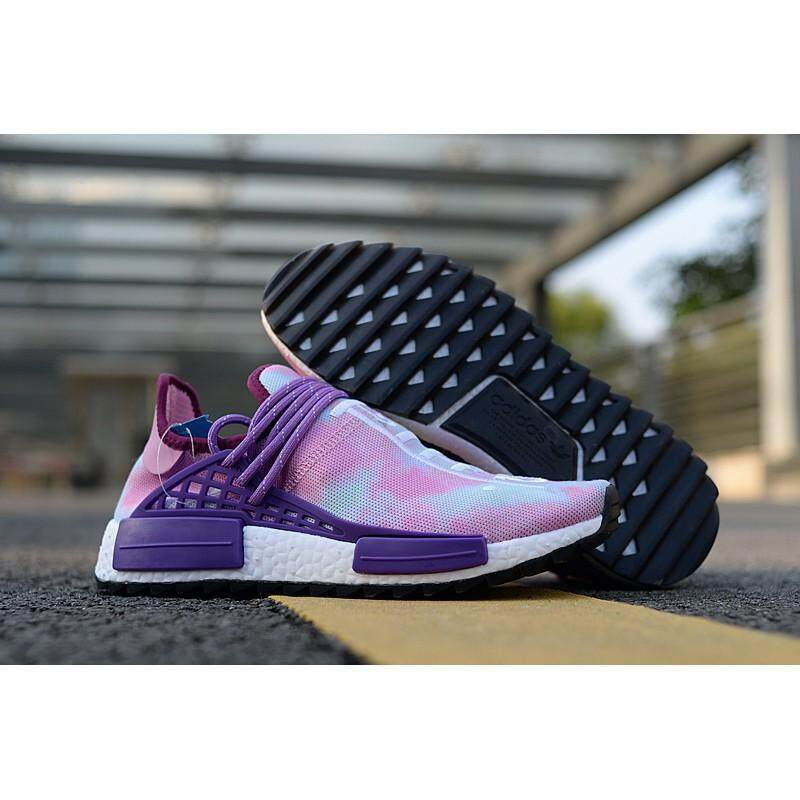 การใช้งาน  ศรีสะเกษ Pharrell Williams Adidas Original เผ่าพันธุ์มนุษย์ NMD Boost รองเท้าวิ่ง HRN73