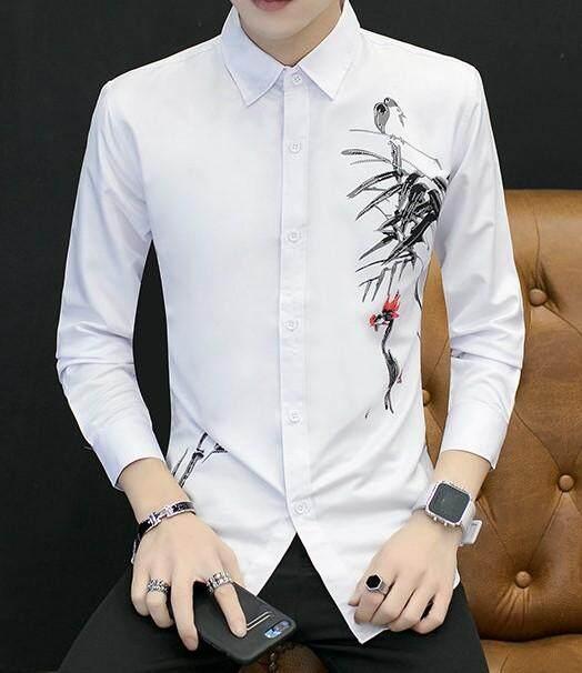 JYS Fashion Korean Style Men Long Sleeve Blouse Collection 390-1707