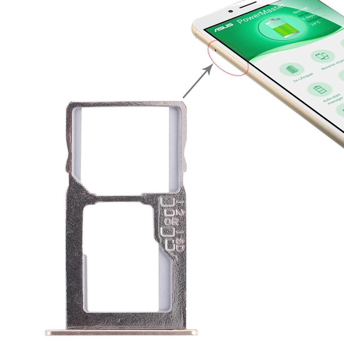 Kartu SIM + Micro Tray SD Card untuk Asus ZenFone 3 Max ZC553KL (Emas)