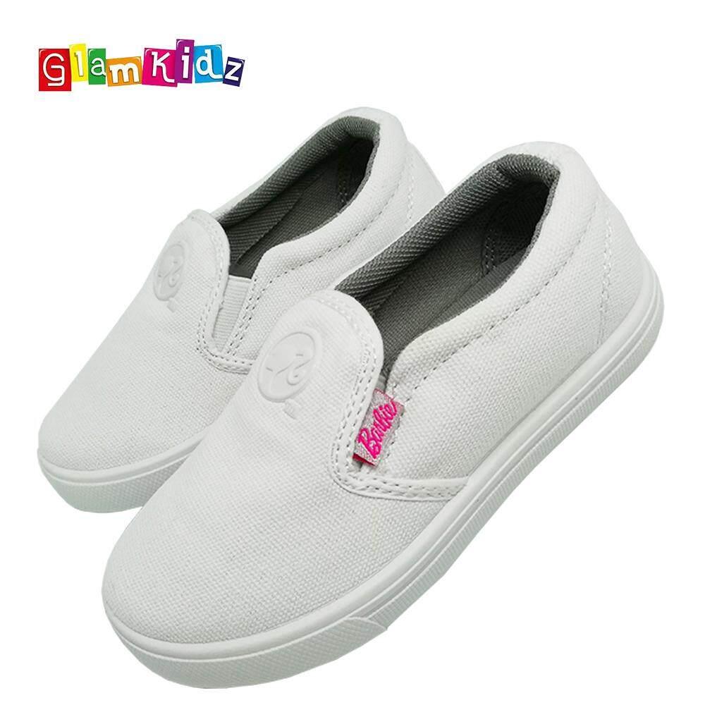 Barbie School Shoes (White) #5-1108