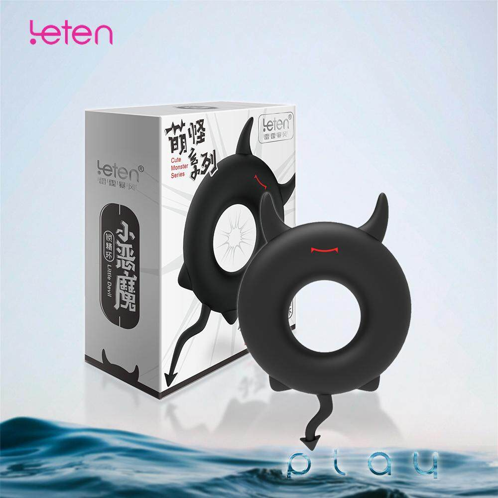 (KL Ready Stock) Leten Men Party Cosplay Devil Silicone Penis Delay Ring Cockring