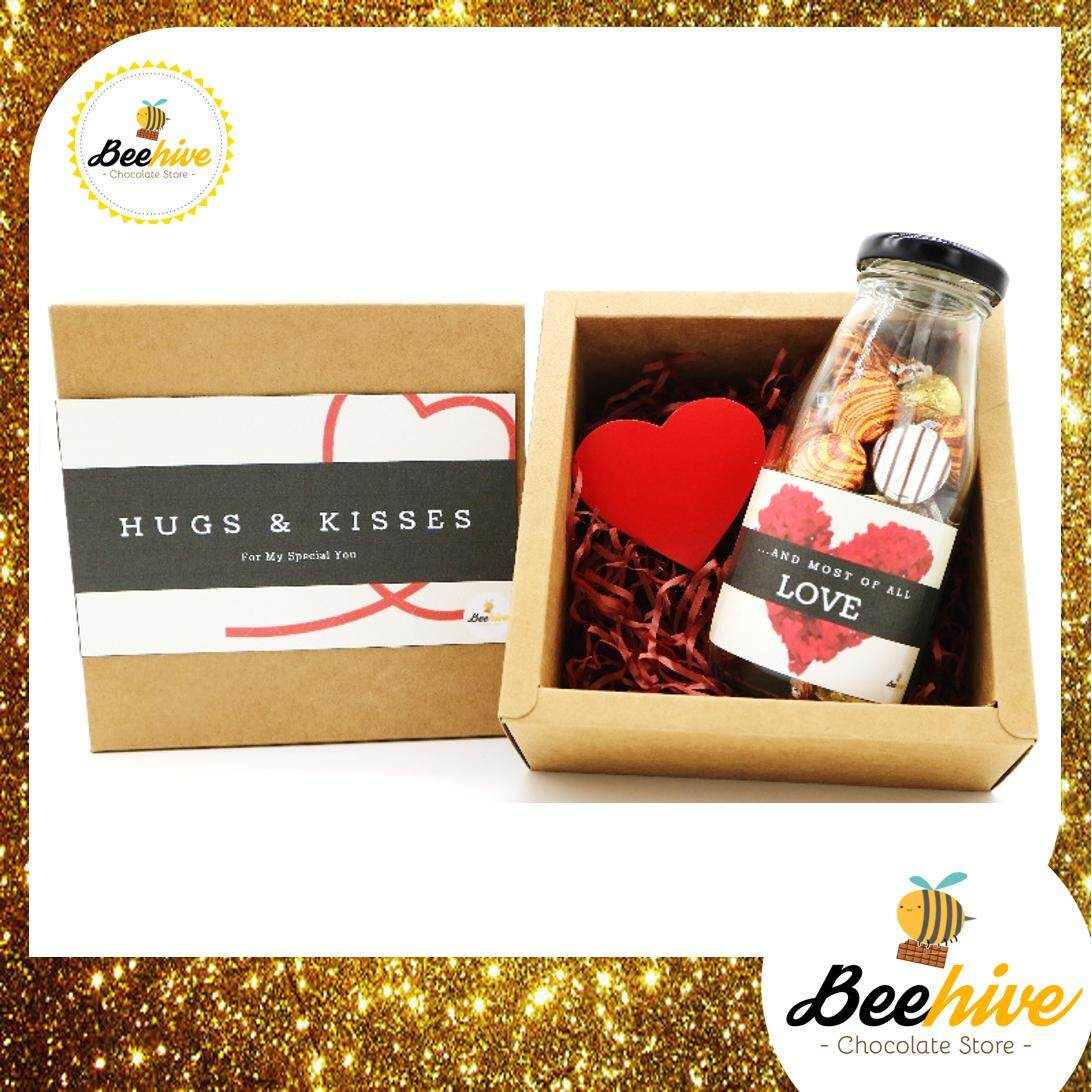 Beehive Hershey's Hugs & Kisses Love Surprise Gift Box *FREE Note Writing*