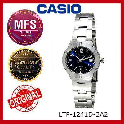 (2 YEARS WARRANTY) CASIO ORIGINAL ENTICER LTP-1241D-2A2 SERIES LADIES WATCH
