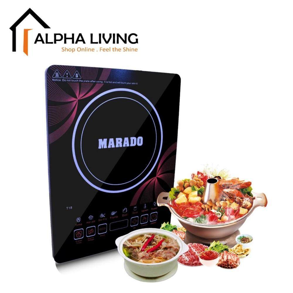 Marado Electric Induction Cooker Touchscreen Interface with 6 Cooking Functions 2000W Power 3-Pin Plug (KEA0162)
