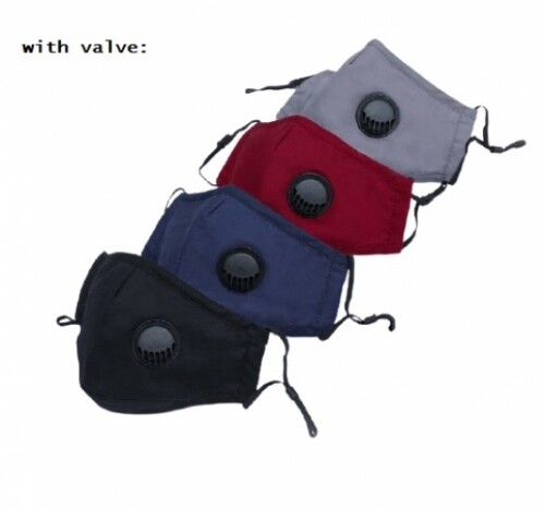 QQ 5 Layers PM2.5 Face Mask Filter Pad   Adult Reusable 3 Layers Cotton Face Mask with Breathing Valve and Filter Pocket Adjustable Earloop Topeng Muka 3 Lapis Gelung Telinga