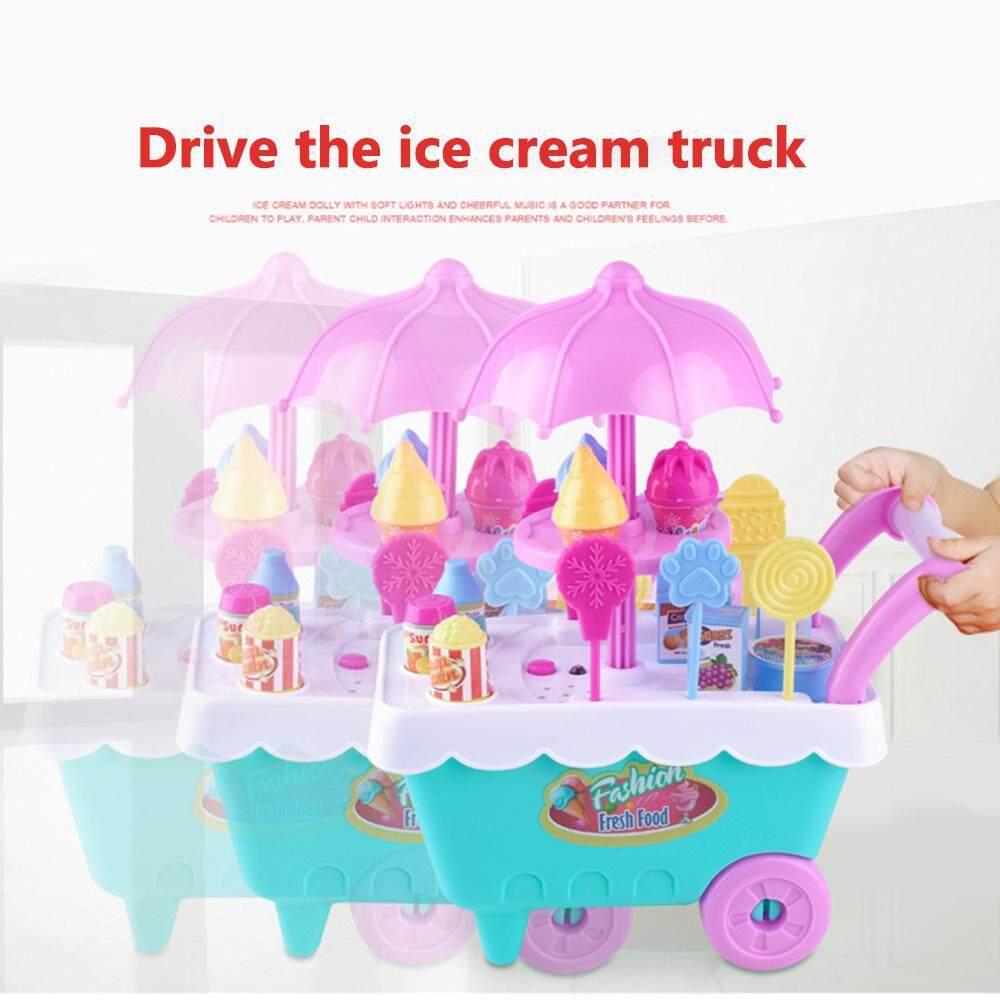 Okcitysz 16PCS Kids Mini Candy Cart Toy, Children Role Play Toys Mini Candy  Cart Detachable Ice Cream Shop Cart Toy