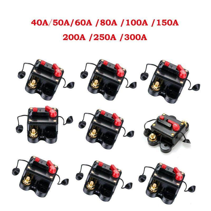 Waterproof Solar System Car Inline Circuit Breaker Reset Fuse Inverter 40A