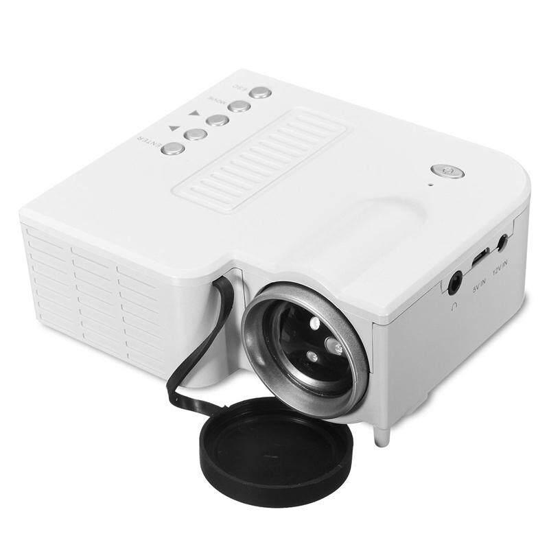 UC28B PORTABLE Home Multimedia Cinema Theater MINI LED Projector USB TF LCD TET - BLACK / WHITE