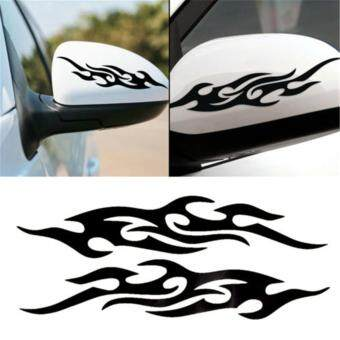 Harga 1 piece Car styling For ford Motorcycle Flame sticker Reflectivestickers on cars Car-covers accessories 31cm(Black)