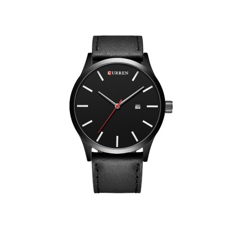(100% Authentic) CURREN 8214 Luxury Brand Quartz Watch Leather Strap Dress Wristwatches Sport  (Black) Malaysia