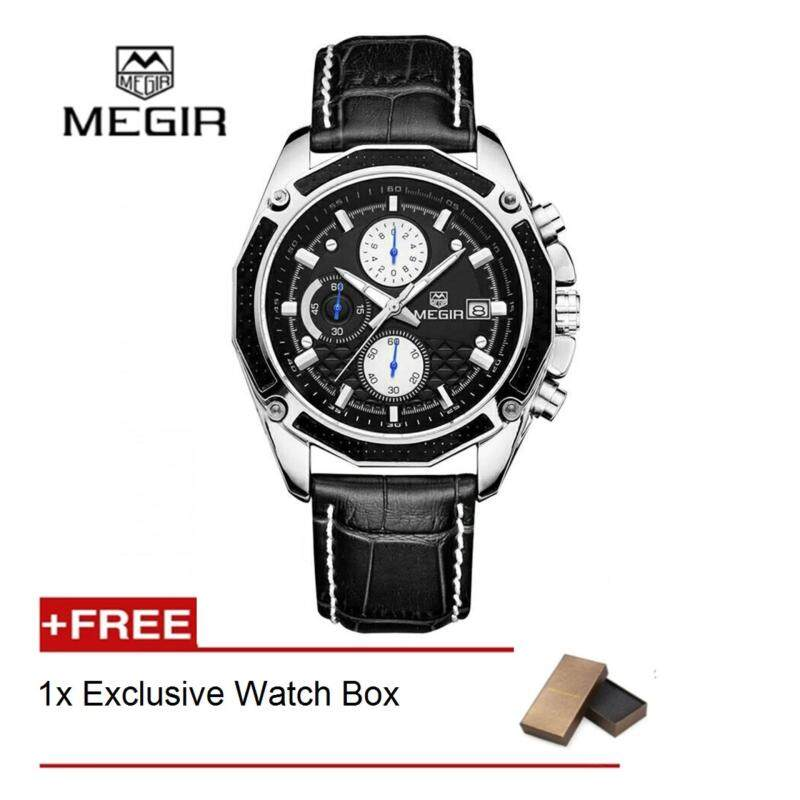 (100% Authentic) MEGIR Fashion Style chronograph Mens Watches Malaysia