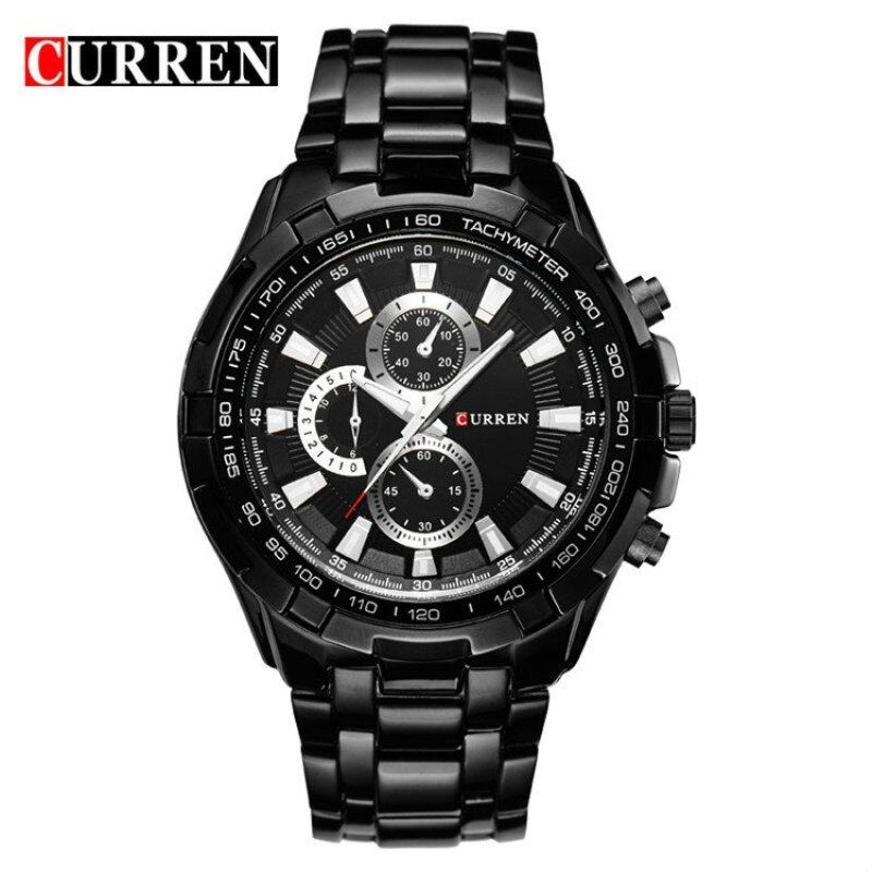 [100% Genuine]CURREN 8023 Mens Watches Top Brand Luxury Men Military Wrist Watches Full Steel Men Sports Watch Waterproof Malaysia