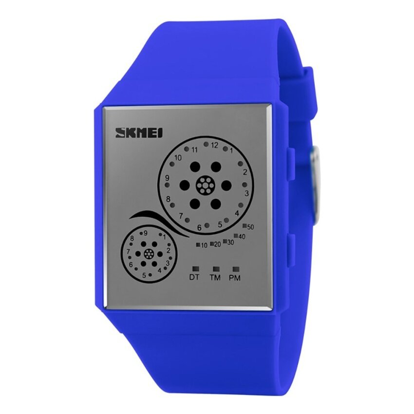 [100% Genuine]Skmei child digital led waterproof wristwatchautomatic clock silicone army datejust chronograph alarm   - intl