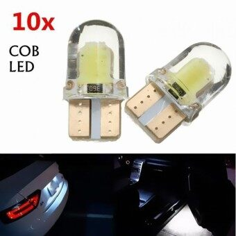 10pcs T10 W5W COB 8-SMD LED Canbus Silica Bright White License Light Bulb