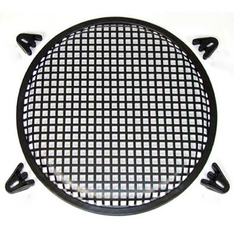 12 INCH WAFFLE SPEAKER SUB WOOFER METAL GRILLS WITH CLIPS AND SCREWS DJ-CAR-HOME - intl