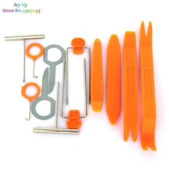 12pcs/set Car Audio door removal tool sticker For Subaru Forester Outback Legacy Impreza XV BRZ