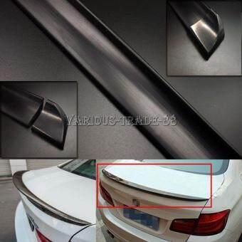 182224146751 4.9ft Universal Black PU Car Rear Roof Trunk Spoiler Wing Lip Trim Sticker Kit