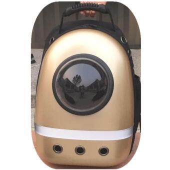 1STOP High Quality Space Astronaut Transparent Breathable Pet Bag (LF Light Gold)