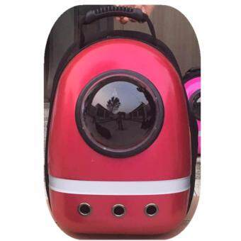 1STOP High Quality Space Astronaut Transparent Breathable Pet Bag (LF Red)