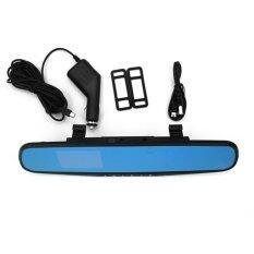 Spesifikasi 2 8 1080 P Dash Cam Perekam Video Rearview Mirror Car Camvehicle Dvr Hitam Baru