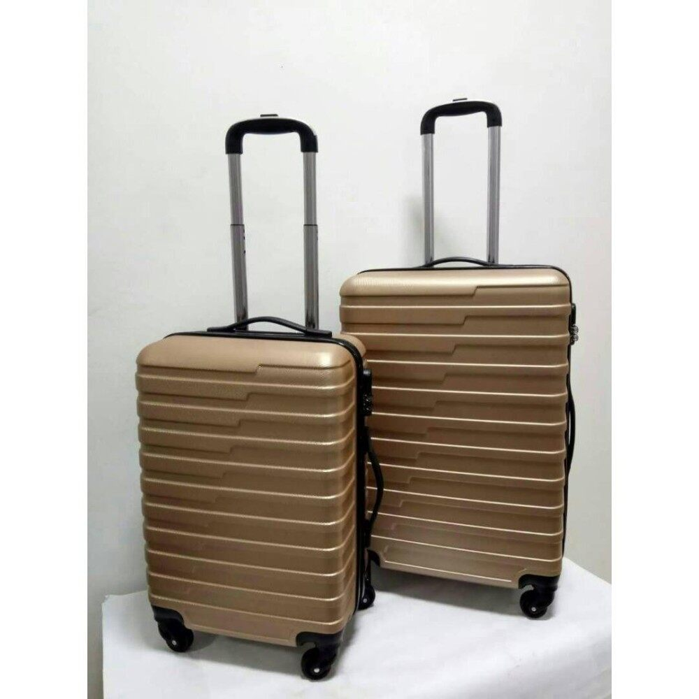 2 in 1  Luggage Bag Set Travel Bag with Wheel (gold)