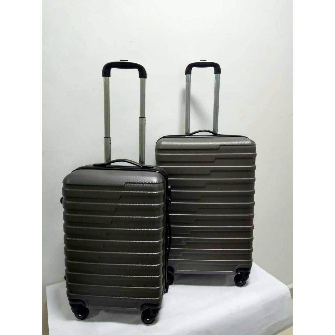 2 in 1 Luggage Bag Set Travel Bag with Wheel(grey)