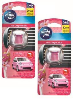 Harga (2 Packs) Ambi Pur Car Mini Dragon Fruit Car Air Freshener 2Ml