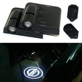 Harga 2 x LED Car Door Warning Light With Projector Logo For NissanAlmera X-Trail Armada Cube Dualis Frontier GT-R Juke Maxima Rugue