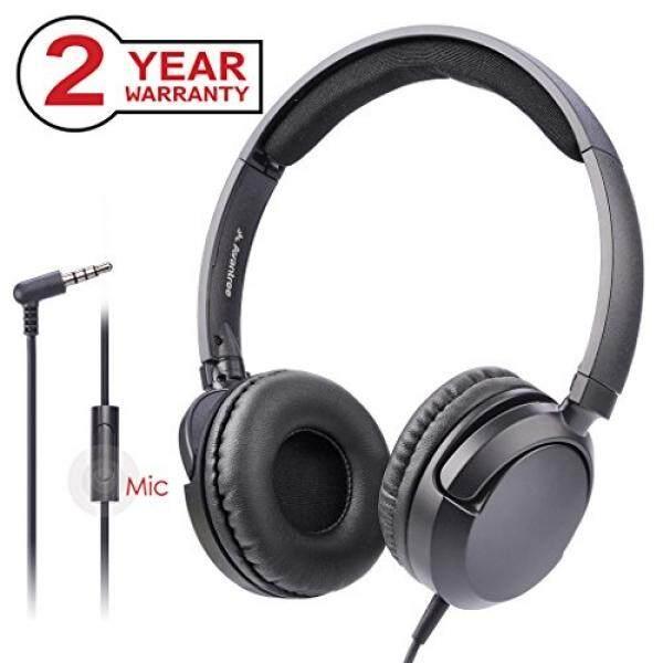 [Garansi 2 Tahun] Avantree Suara Yang Luar Biasa Ringan Berkabel Headphone dengan Mikrofon, untuk Orang Dewasa, Pelajar, anak-anak, Anak Laki-laki Perempuan Di Telinga Headset Lipat Rata, untuk Telepon, Buah, Laptop, iPad, tablet-HF026-Internasional
