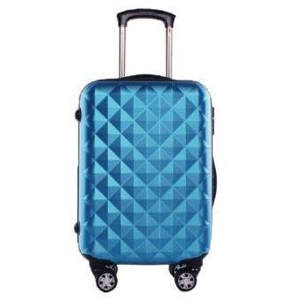 20 Inch ABS Lightweight Diamond Luggage - Blue
