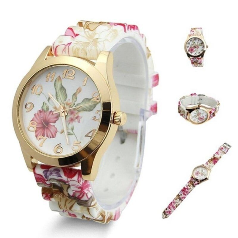 2017 Fashion Silica Gel Blue and White Porcelain Pattern Watch Malaysia