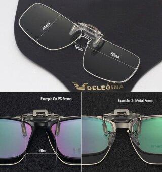 2017 Full Rim Oversized large Clip on Glasses Polarized Flip-up Sunglasses Clips for eyeglasses Driving - 4