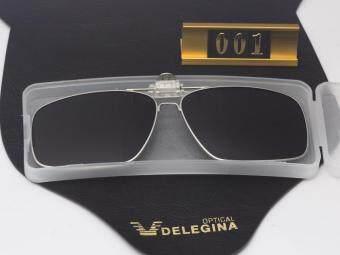 2017 Full Rim Oversized large Clip on Glasses Polarized Flip-up Sunglasses Clips for eyeglasses Driving - 3