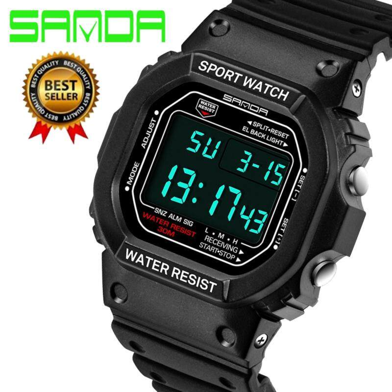 2017 New Brand SANDA Fashion Watch Men G Style Waterproof Sports Military Watches Shock Mens Luxury Analog Quartz Digital Watches 329 Malaysia