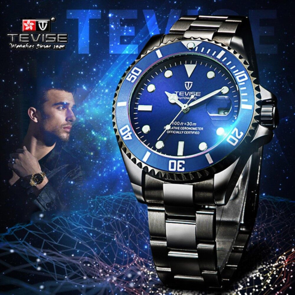 THB 1.286 2018 New TEVISE Watches Men Automatic Mechanical Watch Men Luxury saat Male Clock Luminous Calendar Watches for Men Relogio Masculino ...