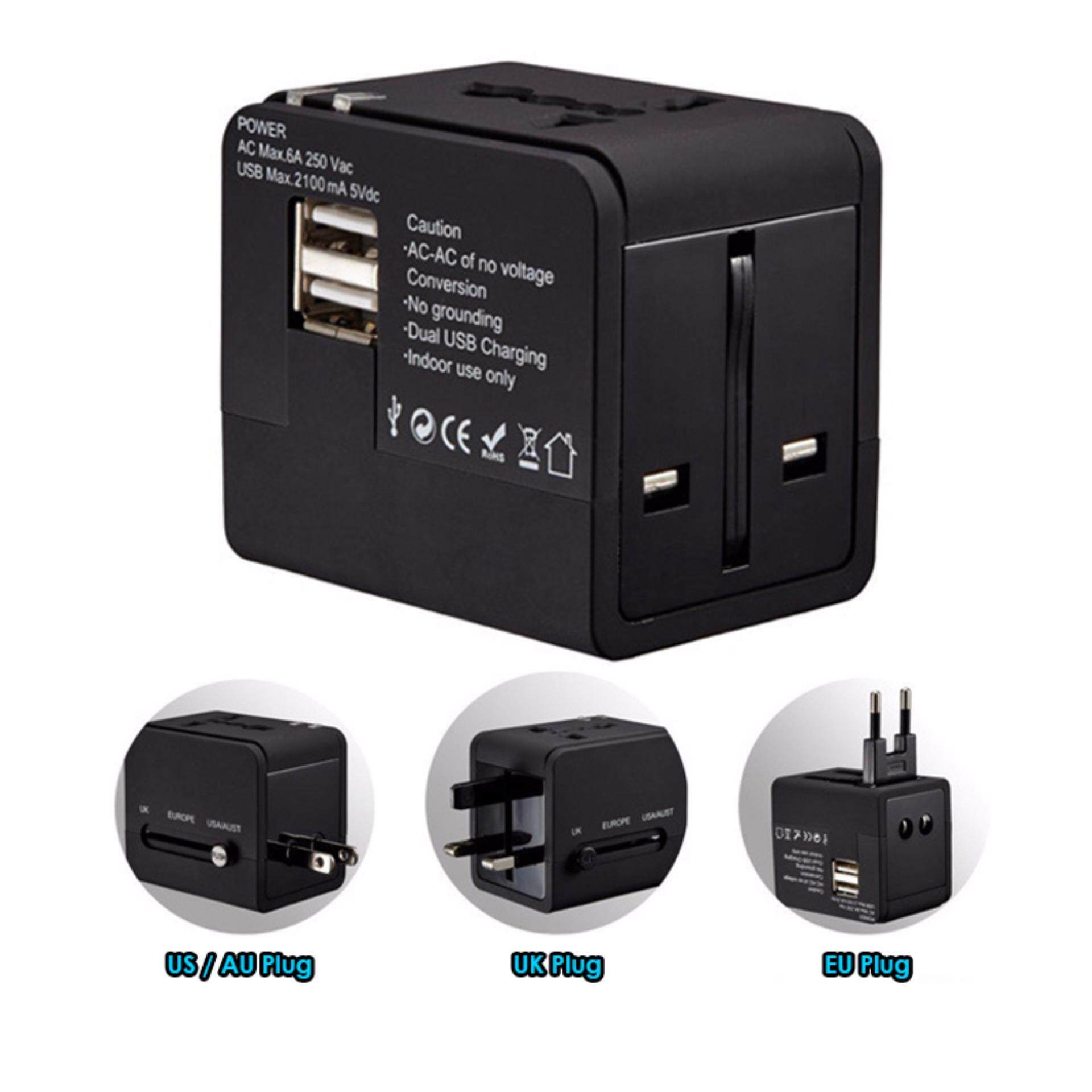 Universal 2.1A Dual USB Travel Adapter