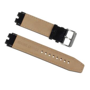 22mm Leather Strap Wrist Watch Steel Buckle Strap Band for PebbleSmartwatch Black - 2