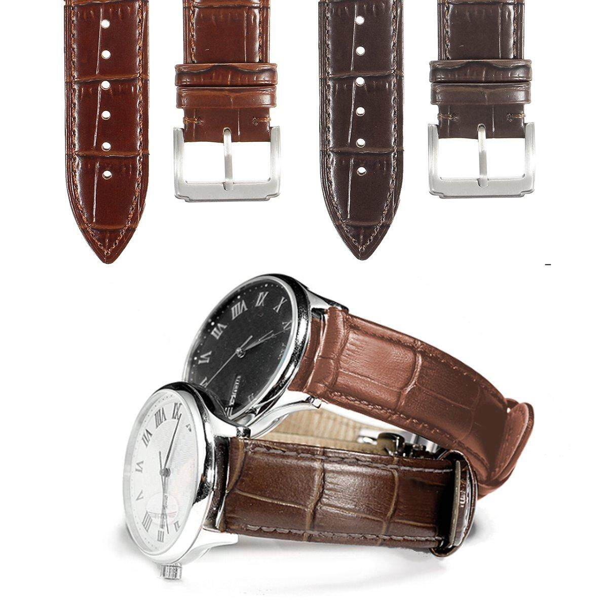 for spring bands retro coffee quick bar wrist strap leather watch with release malaysia brown
