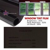 Broz (2ft x 2ft) Titanium Grey 35% Solar Control Window Film Tint Film For Residencial Home Commercial Building Apartment Condo Door Window Windscreen